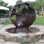 The Globe Firepit at Wekiva Island
