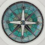 Glass feature in the Belle Tout lighthouse lantern room ceiling
