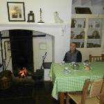Tea house with peat fire to keep you warm.