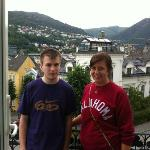 Max (Brother) and I on balcony