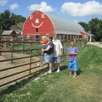 "our TourGuide (little boy in Blue) and The ""Happy Barn' at Ericksons Petting Zoo"