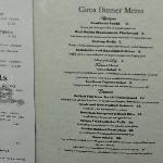 The menu at Circa