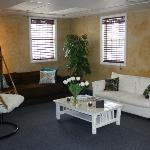 Upstairs relaxation room