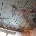 Amazing ancient ceiling (recently uncovered) in the breakfast room