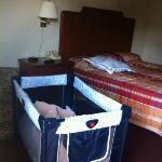 Crib in the room we appreciated!