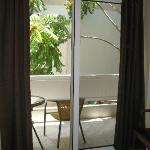 Finestrone da cui si accede al balcone