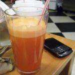 Delicious fresh pressed carrot juice