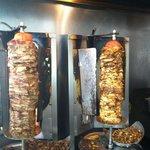 pork and chicken gyros