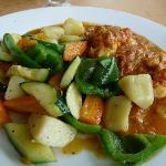 Curry de légumes et de poisson j'en ai encore l'eau à la bouche