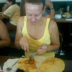 Pancake for Breakfast - they are huge!!!