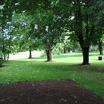 Grounds behind the inn