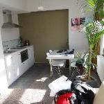 Fully equipped kitchen with an oven, microwave, etc.