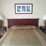Kingsized bed