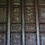 5th century carved wooden door at Santa Sabina