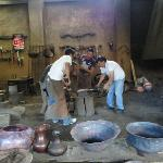 Men working with copper at Santa Clara de Cobre