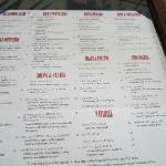 menu from El Puerto Restaurant located in main building