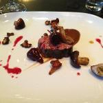 meat: lamb, beet, musroom, beets, black garlic