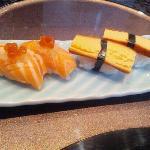 salmon toro and tamago