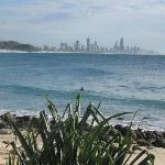 Looking back to Surfers Paradise