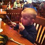 enjoying the garlic fries