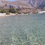 La spiaggia di Aegiali