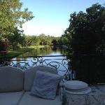 View of the millstream from the patio.