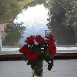 Fresh flowers in my room overlooking the millstream. Julianna Room.