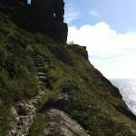 a section of the cliff top path