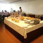 La sala per la prima colazione