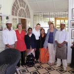 Farewell to staff in the Heritage Bungalow