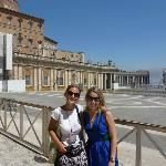 Myself and our tour guide outside St. Peters.