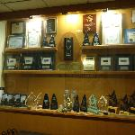 Impressive number of awards and trophies