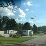 this is the mobile home park on the way in to camp