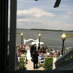 Wedding Ceremony at the seawall