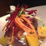 Beet Salad with blood orange vinaigrette and goat cheese
