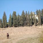 passeggiata nei campi intorno al podere