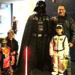 Photo outside the Planetarium with Darth Vader....