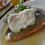 Delicious local kippers for breakfast