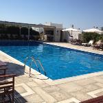 Très grande piscine + Bar