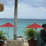 View from bar patio during lunch