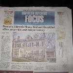 Article in the paper about the Inn