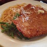 crispy chicken and spaghetti