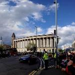 Birmingham Town Hall as a backdrop to the 2012 Olympic torch relay. The Council House is located