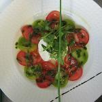 Salade de tomates et mozzarella di buffala