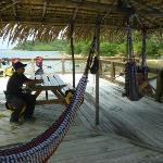 Chilling in the hammocks