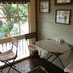 Private side porch for those who like to eat breakfast in private