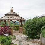 Gazebo outside the restaurant