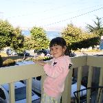Phoebe on the balcony
