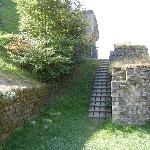 steep ramp to higher ground