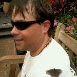 A butterfly caught my hubby!